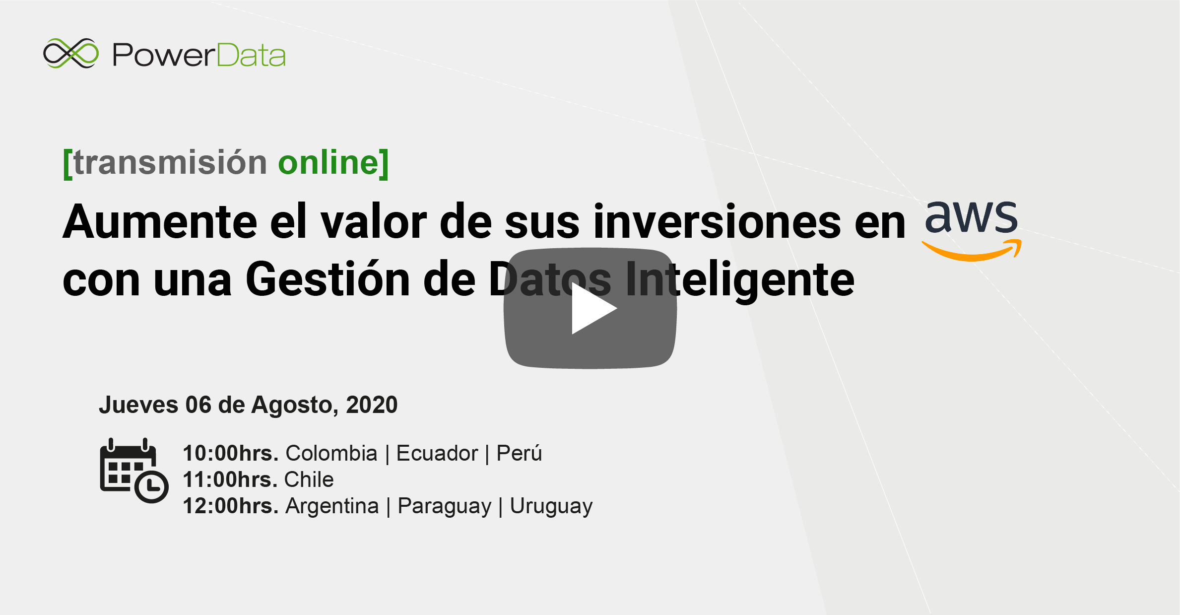 Vídeo Cloud Virtual Days Amazon